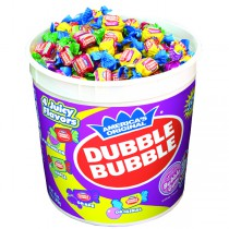 Dubble Bubble Assorted Gum 4 flavors 300count Tubs