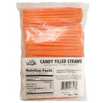 Candy Straws Orange 240count Bags