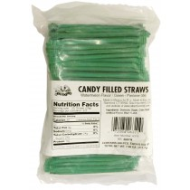 Candy Straws Green Watermelon 240count Bags