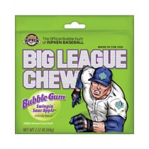Big League Chew Green Sour Apple Gum 12count Box