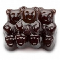 Gummies Bears Black Cherry 5 lb Bags