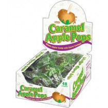 Caramel Apple Brown Green Pops 48count Box