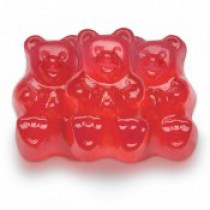 Gummies Bears Red Strawberry 5 lb Bags