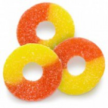 Gummies Rings Peach Orange Yellow 4.5 lb Bags